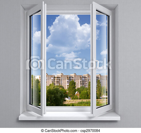 Opened plastic window - csp2970084