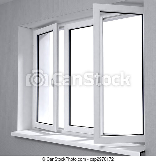 Stock illustration ge ffnet plastik fenster stock for Fenster 800x800