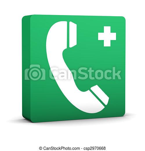Emergency Telephone Sign - csp2970668