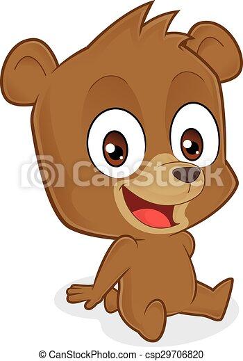 Bear sitting - csp29706820