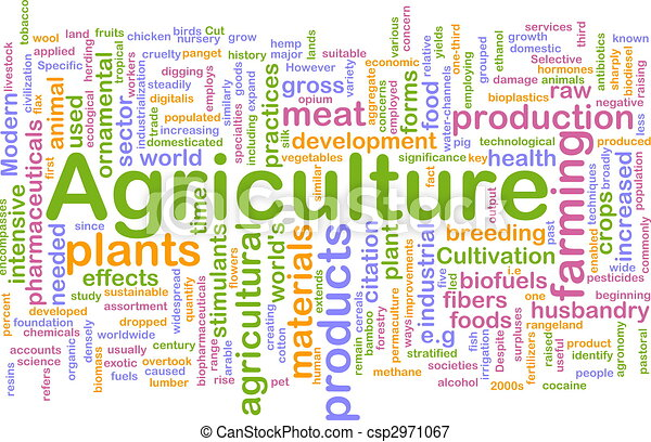 Stock Illustrations of Agriculture word cloud - Word cloud ...