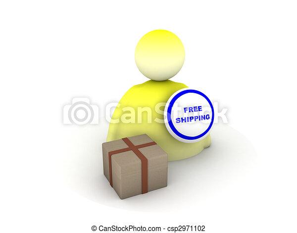 free shipping icon - csp2971102