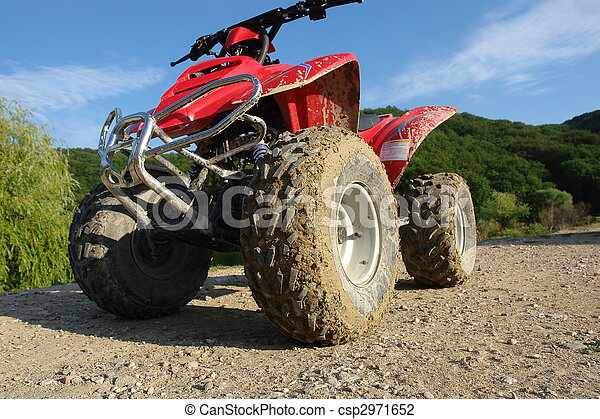 ATV in the mud and dust - csp2971652