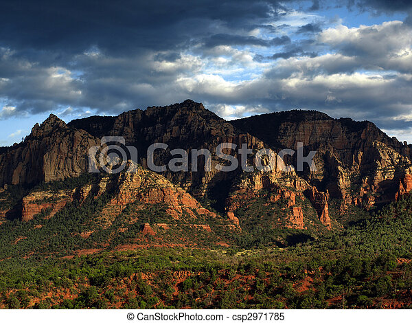 sandstone red scenic nature landscape, usa - csp2971785