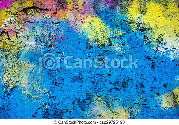 Rainbow wall - csp29725190