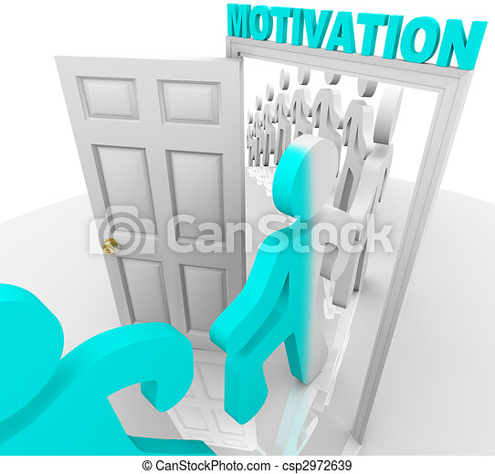 Stepping Through the Motivation Doorway - csp2972639