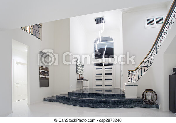 Luxury mansion entrance - csp2973248