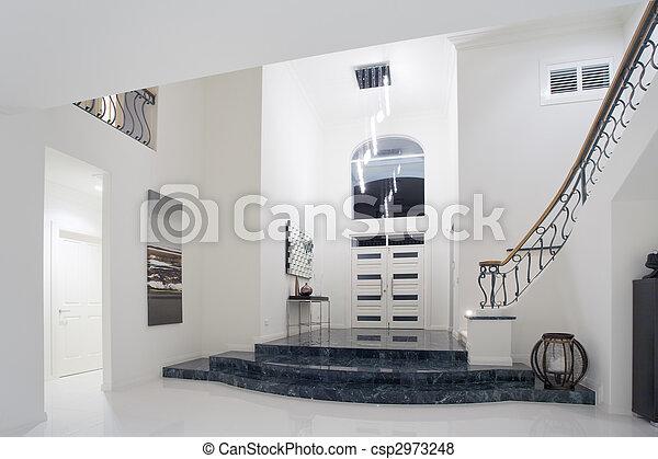 Luxury mansion entrance - csp2973248