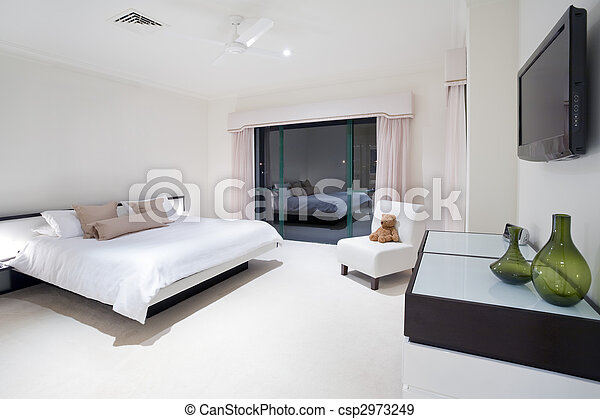 Master bedroom in luxury mansion - csp2973249
