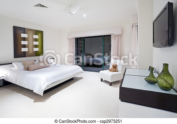 Master bedroom in luxury mansion - csp2973251