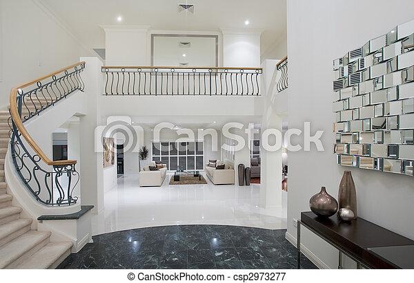 Luxury Mansion hallway - csp2973277