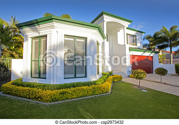 Luxury Mansion house front - csp2973432