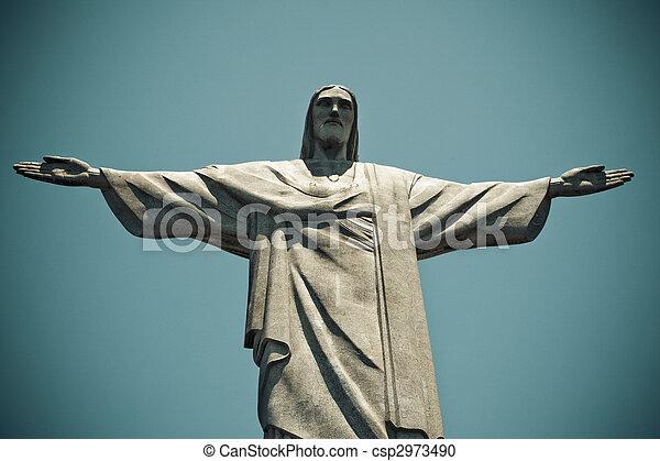 Christ the Redeemer Rio De Janeiro Brazil - csp2973490