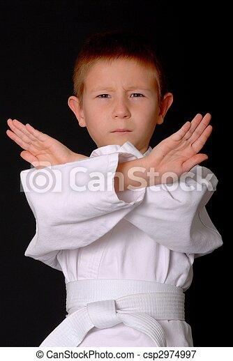 karate, niño - csp2974997