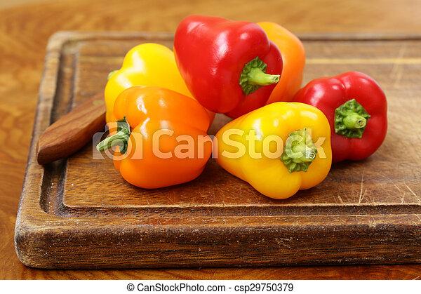 Fresh organic bell peppers