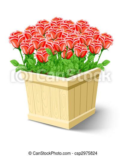dessin de bo te rose fleurs blanches isol rose fleurs dans csp2975824 recherchez. Black Bedroom Furniture Sets. Home Design Ideas