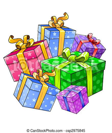 Stock Illustrationen von Geschenke, Feiertag, Freigestellt ...