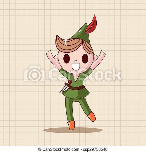 Peter Pan theme elements - csp29758548