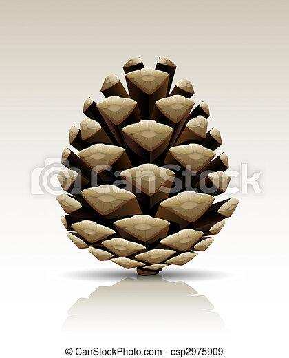 pine cone isolated - csp2975909