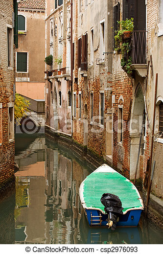 Residential canal in Venice - csp2976093