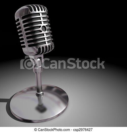 Classic Microphone - csp2976427