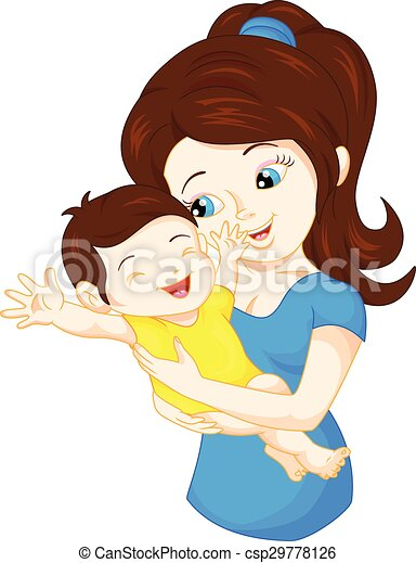 mom and baby - csp29778126
