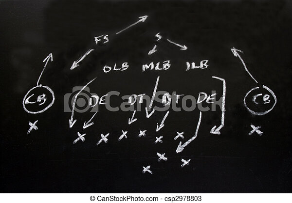 NFL American football formation tactics  - csp2978803