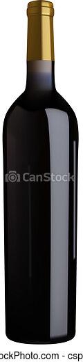 red wine bottle - csp2979091