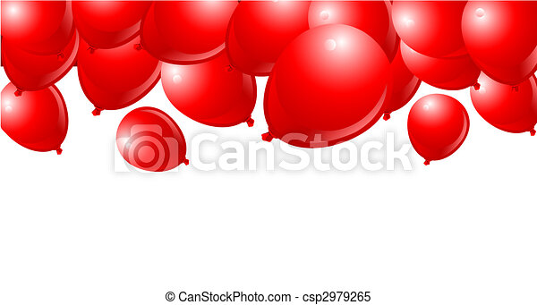 Falling Red Balloons - csp2979265