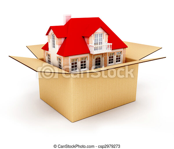 New house in box - csp2979273