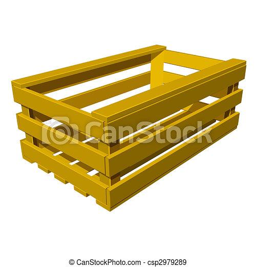 Stock de ilustraciones de caja de madera vegetales - Caja de frutas de madera ...