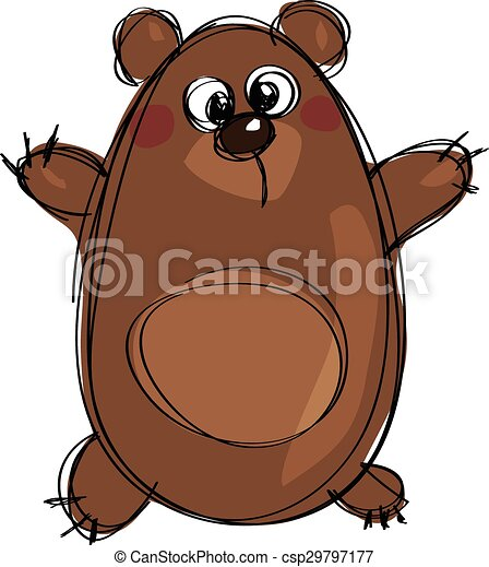 Cute grizzly bear clipart - photo#24