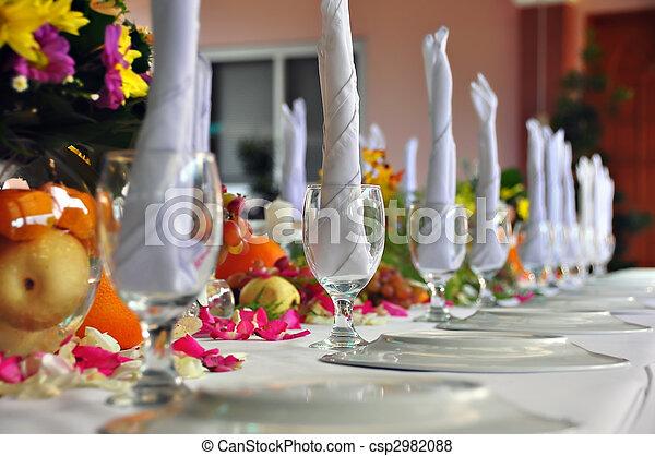 Table setting - csp2982088