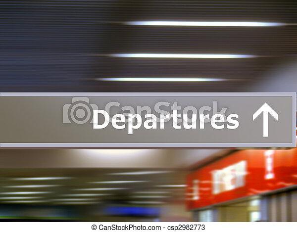 Tourist info signage departures - csp2982773