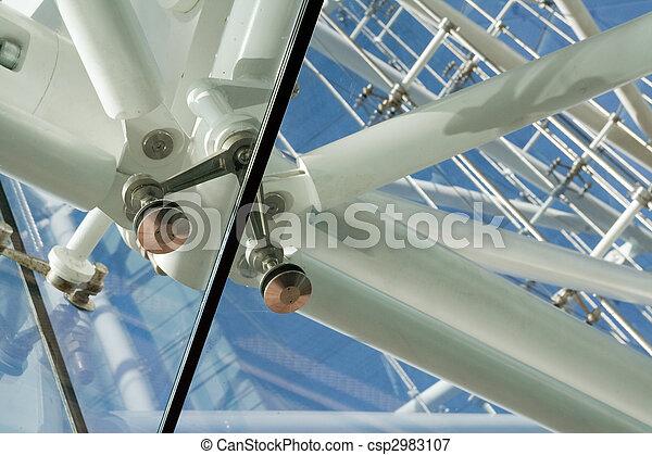 steel glass architecture detail - csp2983107