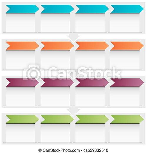 Arrow Flow Chart Icon - csp29832518