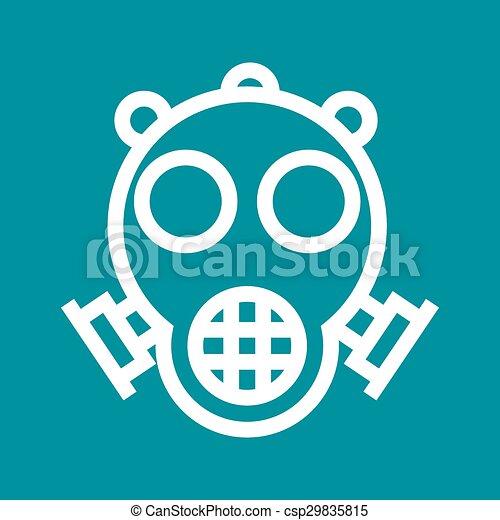 Vector Clip Art of Oxygen Mask - Oxygen, mask, hospital icon ...