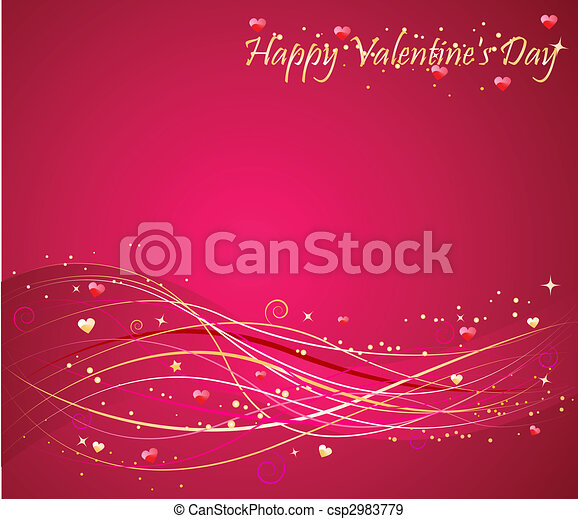Valentine's day background with wav - csp2983779