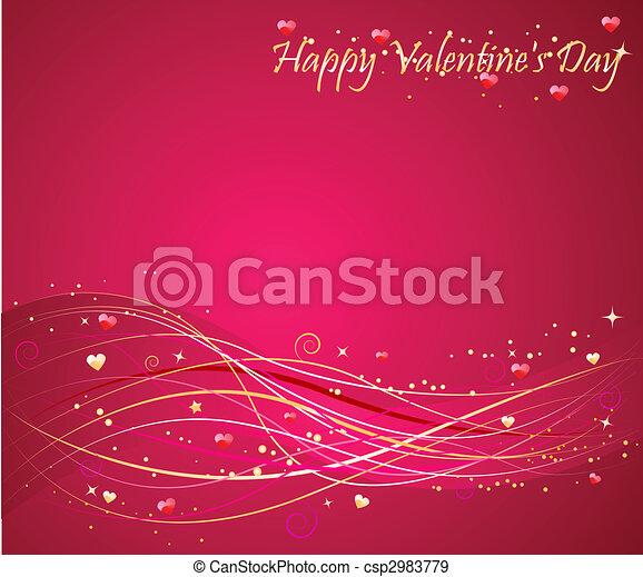 Valentine\'s day background with wav - csp2983779
