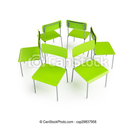 Stuhlkreis symbolkarte  Stock Illustrationen von stuhlkreis, gruppe, stehen - gruppe, von ...