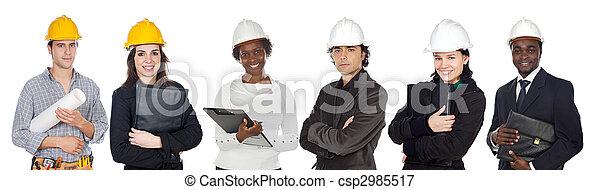 Trabalhadores, construção, equipe - csp2985517