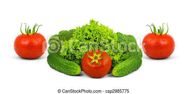 Low-calorie raw vegetables - csp2985775