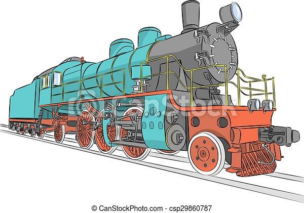 Steam locomotive. - csp29860787