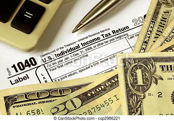 Tax Refund - csp2986221