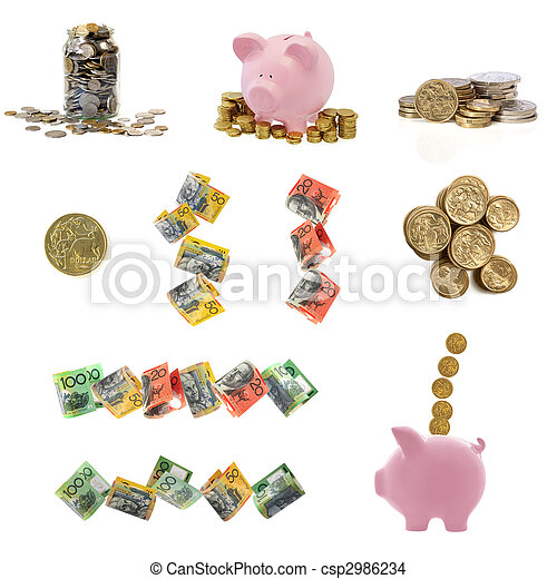 Australian Money Collection - csp2986234