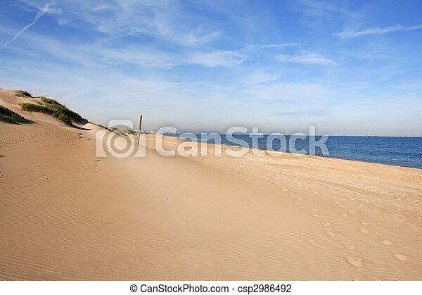 Dune on mediterranean sea coastline - csp2986492