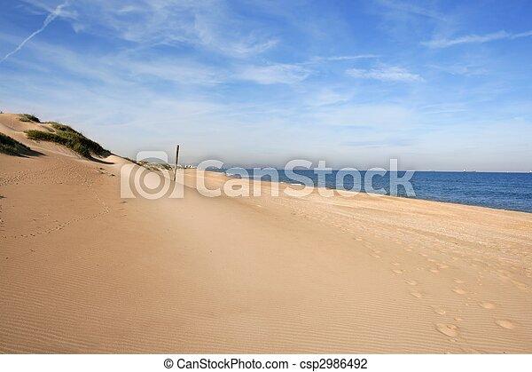 Dune on mediterranean sea coastline - csp2986492