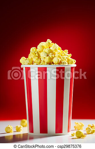 Bowl Filled With Popcorns For Movie Night