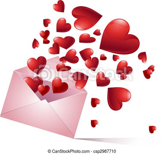 Bursting hearts - csp2987710