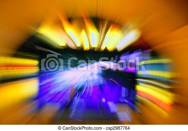 Gambling casino zoom blurred lights - csp2987764